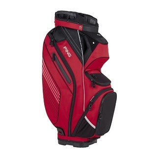 New Ping 2017 Pioneer Golf Cart Bag (Red / Black / Gray) - red / black / gray