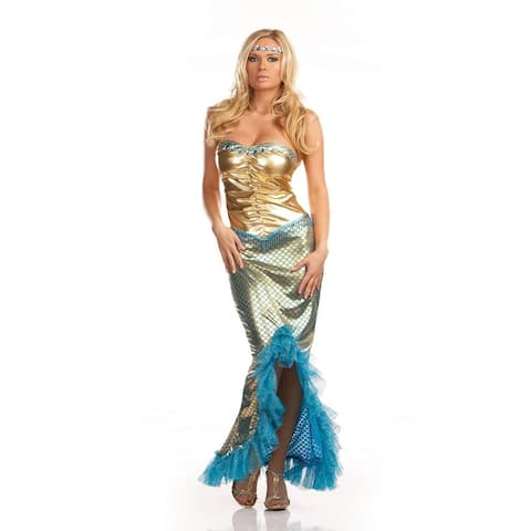 Sexy Sea Worthy Mermaid Costume Adult - Gold