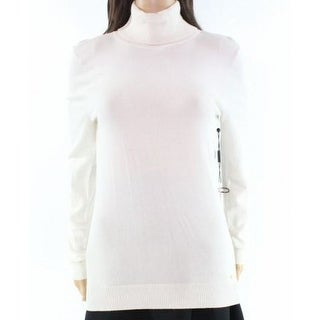 Calvin Klein NEW White Ivory Women's Size Large L Turtleneck Sweater
