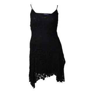 Polo Ralph Lauren Women's Floral Lace Sleeveless Dress (L, Polo Black) - polo black - l