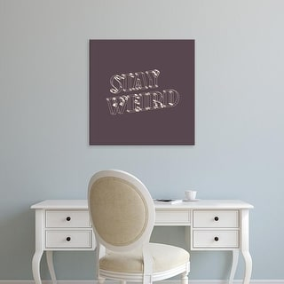 Easy Art Prints 'Stay Weird VI' Premium Canvas Art