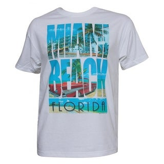Mens Short-Sleeve Miami Beach Florida T-Shirt