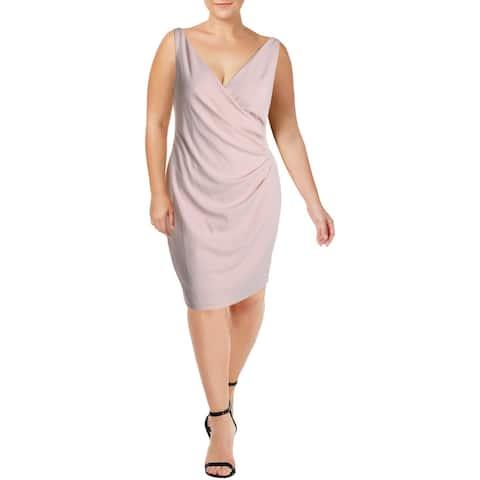 Jessica Howard Womens Cocktail Dress Crepe Sleeveless - Blush