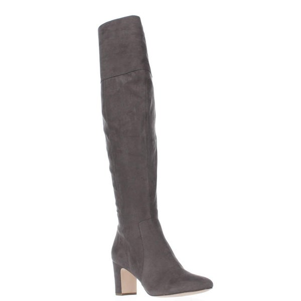 A35 Harrley Over-The-Knee Boots, Steel