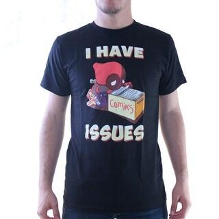 Marvel Deadpool I have Issues Comiks Men's Black T-shirt