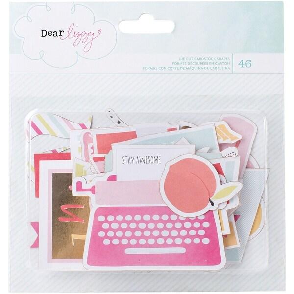 Dear Lizzy Fine & Dandy Cardstock Die-Cuts 46/Pkg-Ephemera W/Gold Foil