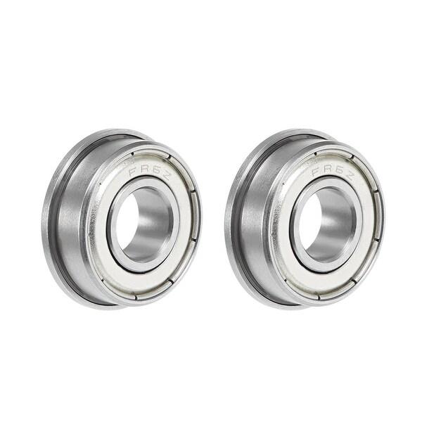 "FR6ZZ Flange Ball Bearing 3/8""x7/8""x9/32"" Double Shielded Chrome Bearings 2pcs - 2 Pack - FR6ZZ (3/8""x7/8""x9/32"")"