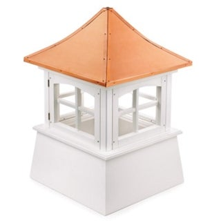 "110"" Handcrafted ""Windsor"" Copper and Vinyl Roof Cupola"