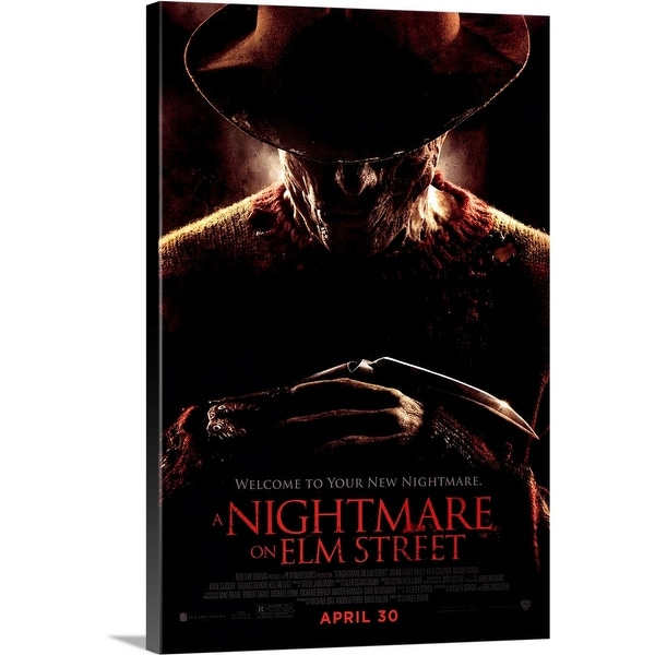 Solid-Faced Canvas Print entitled A Nightmare on Elm Street - Movie Poster