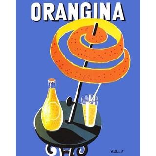 ''Orangina'' by Bernard Villemot Vintage Advertising Art Print (20 x 16 in.)