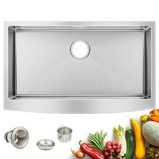 36 in. W x 22 in. L Stainless Steel Kitchen Bathroom Bar Sink Farmhouse Apron Front Single Bowl