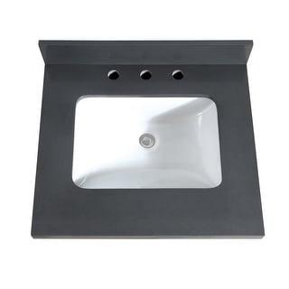 "Avanity VUT25-R  25"" Quartz Vanity Top with Backsplash and Undermount Sink"