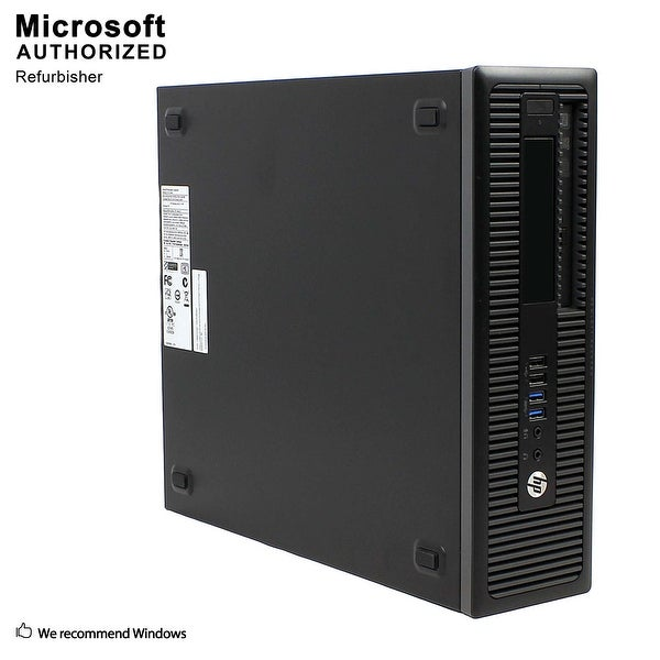HP 800G2 SFF Intel i5-6500 3.20GHz, 8GB RAM, 3TB HDD, DVD, WIFI, BT 4.0, HDMI Adapter, VGA, DP, WIN10P64(EN/ES)-Refurbished