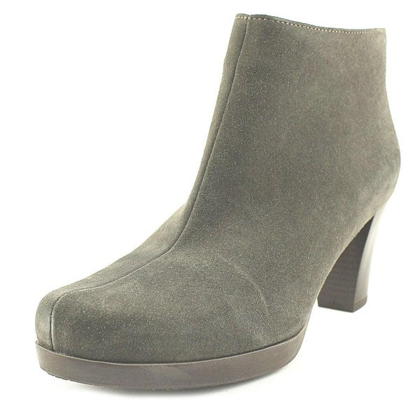 La Canadienne Olive Women Round Toe Suede Brown Ankle Boot