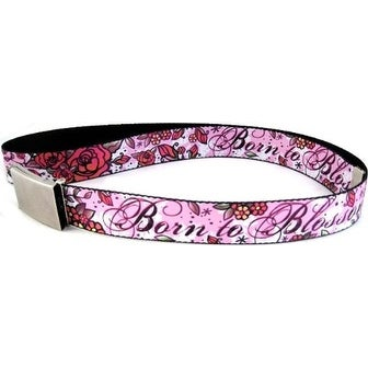 Buckle-Down Web Belt Born To Blossom Tattoo 1.5""