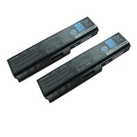 Replacement 4400mAh Toshiba PA3728U  Battery for SS M60 Dynabook Laptop Series (2 Pack)