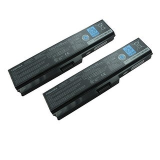 Replacement 4400mAh Toshiba PA3728U Battery for Satellite B350 / Dynabook Laptop Series (2 Pack)