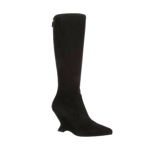 Dior Women's Dioretre 95 Suede Knee High Boots Black