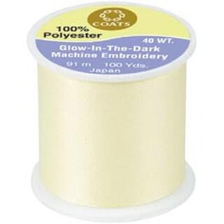 Yellow - Glow-In-The-Dark Machine Embroidery Thread 100Yd
