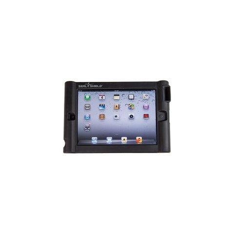 Seal Shield SBUMPERI3 Seal Shield Bumper Case w/ Single Megaphone for iPad 2/New/3 - iPad - Black - Silicone