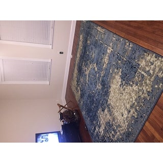 The Curated Nomad Coronet Traditional Vintage Fancy Blue Rug