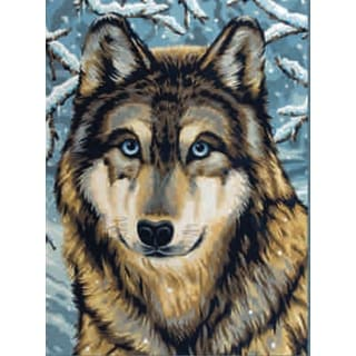 "Junior Paint By Number Kit 9""X12""-Wolf 2"