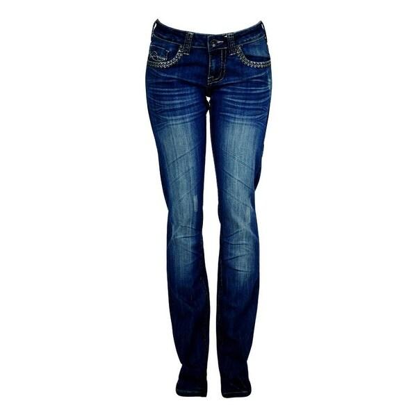 Cowgirl Tuff Western Denim Jeans Womens Dakota Zig Straight Med