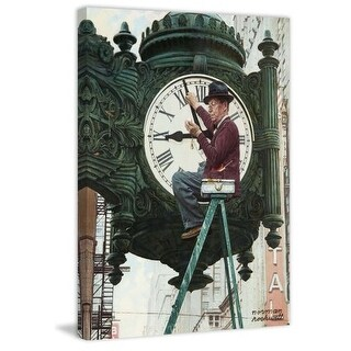 Marmont Hill Clock Repairman Norman Rockwell Painting Print on Canvas
