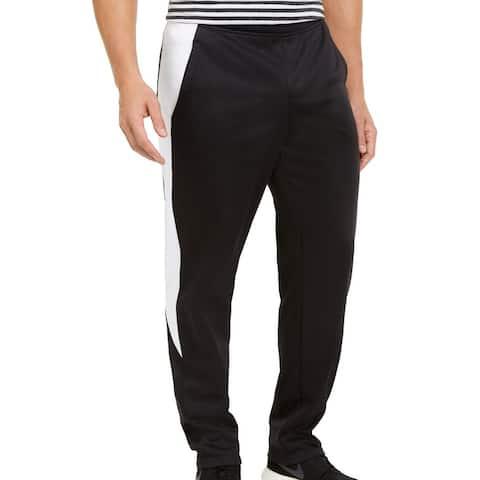 Ideology Mens Sweatpants Black Size XL Contrast Side Panel Fleece-Lined