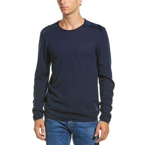 John Varvatos Star U.S.A. Velvet Wool-Blend Crewneck Sweater