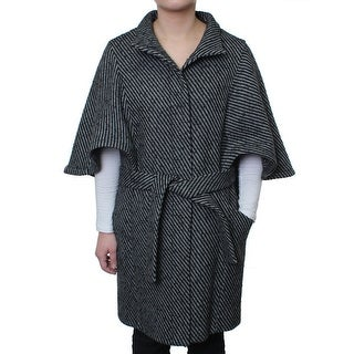 Hilary Radley Women's Tweed Fly Front Cape