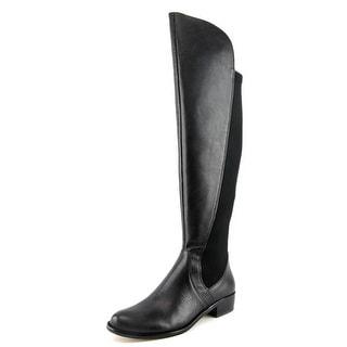 Corso Como Stonybrook Women Round Toe Leather Black Over the Knee Boot