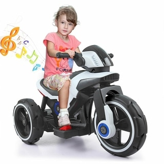 Link to White 6V kids ride on car 3 Wheel Trike Boy Electric Motorcycle Similar Items in Bicycles, Ride-On Toys & Scooters