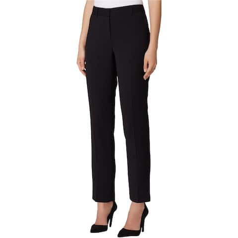 Tahari Womens Solid Casual Trouser Pants