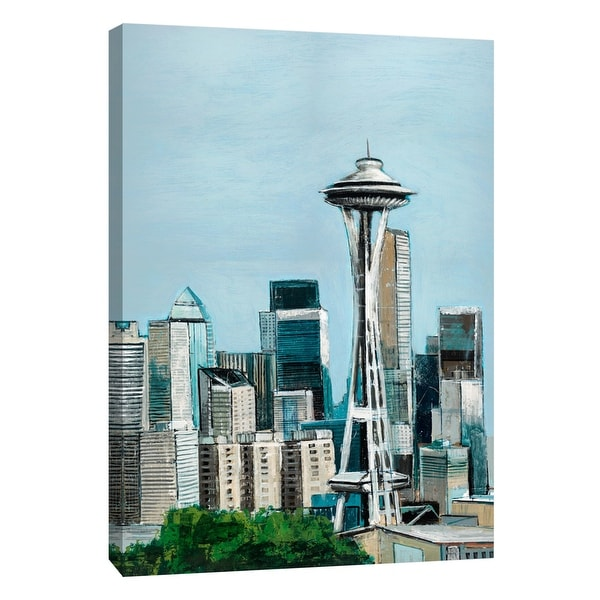 """PTM Images 9-105314 PTM Canvas Collection 10"""" x 8"""" - """"Seattle"""" Giclee Cityscapes Art Print on Canvas"""