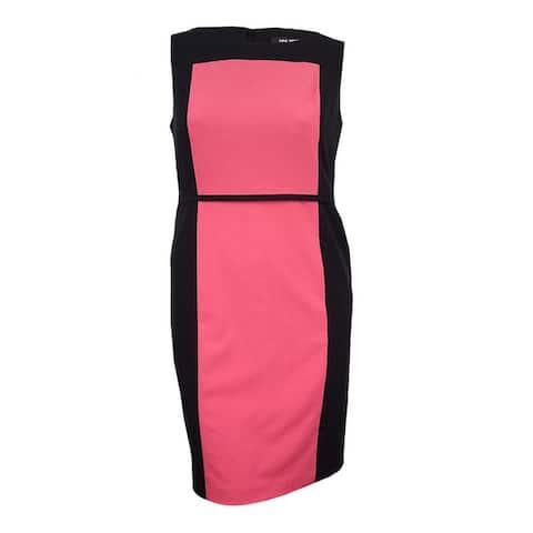 Nine West Women's Colorblocked Sleeveless Dress - Volcano/Black - 14
