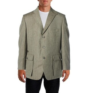 Cordings Mens Wool Marled Three-Button Blazer - 44R