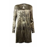 Alex Evenings Women's Metallic Mesh 2 PC  Blouse Set - Black/gold