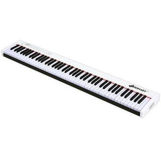 BX-II 88-key Portable Weighted Digital Piano with Bluetooth & MP3 (White) -  Overstock