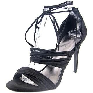 Wild Diva Berlin-18 Women Open Toe Synthetic Black Sandals