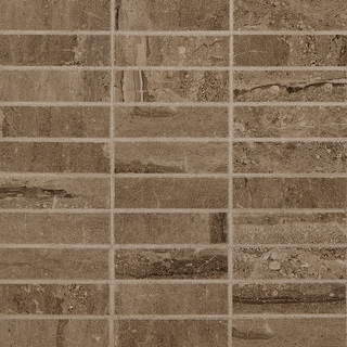 "MSI NPIEDUN1X4P  12"" x 12"" Straight Linear Mosaic Wall & Floor Tile - Smooth Stone Imitating Visual - Sold by Carton (8"