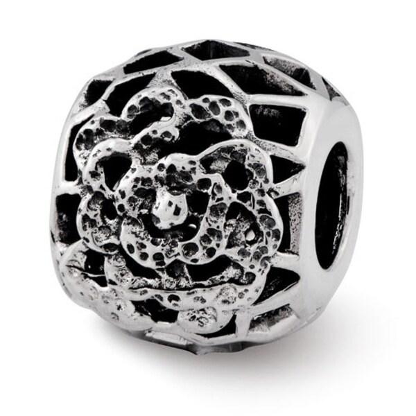 Sterling Silver Reflections Flower Bali Bead (4mm Diameter Hole)