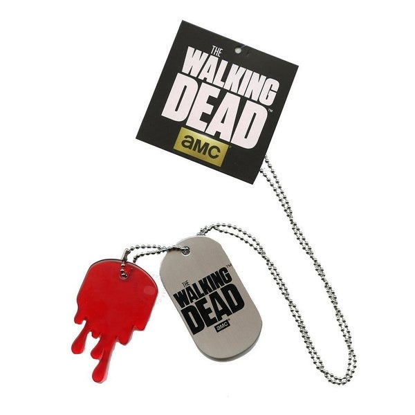 The Walking Dead Metal Dog Tag Necklace - multi