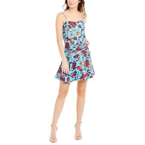 Derek Lam 10 Crosby Silk-Blend Mini Dress