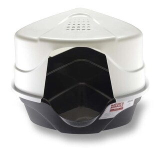 Natures Miracle Just for Cats Advanced Hooded Corner Litter Box