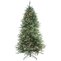 9' Pre-Lit Washington Frasier Full Artificial Christmas Tree - Clear Lights - green