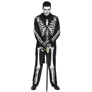 Mens Mr. Bones Skeleton Halloween Costume - standard - one size