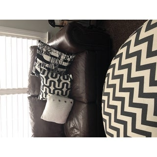Shop Abstact Scratch Black White Decorative Accent Pillow