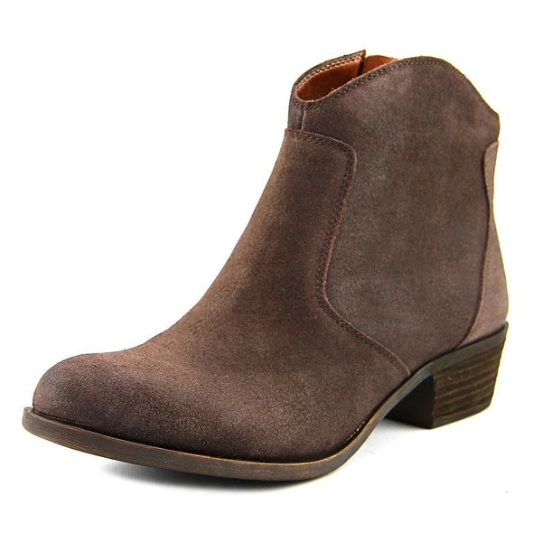 Lucky Brand Belia Women Round Toe Leather Bootie