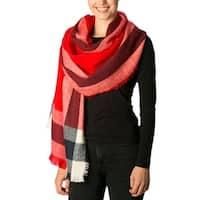 Amtal Women Striped Plaid Oblong Winter Blanket Soft Warm Cozy Casual Scarf